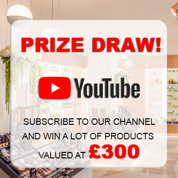 PRIZE DRAW! Win  £300 on products from Clarins, Hugo Boss, Carita, Jean Paul Gaultier and Jeanne Piaubert