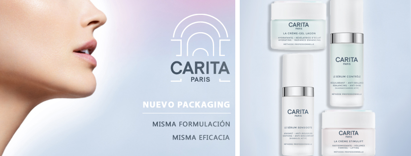 CARITA: New Packaging. Same formula, same efficiency
