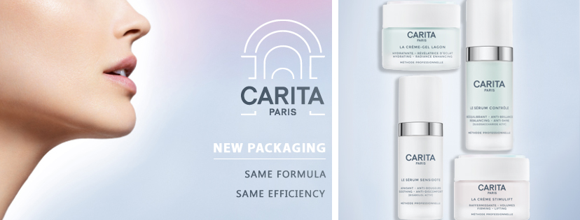 CARITA: New Packaging. Same formula, same efficiency.